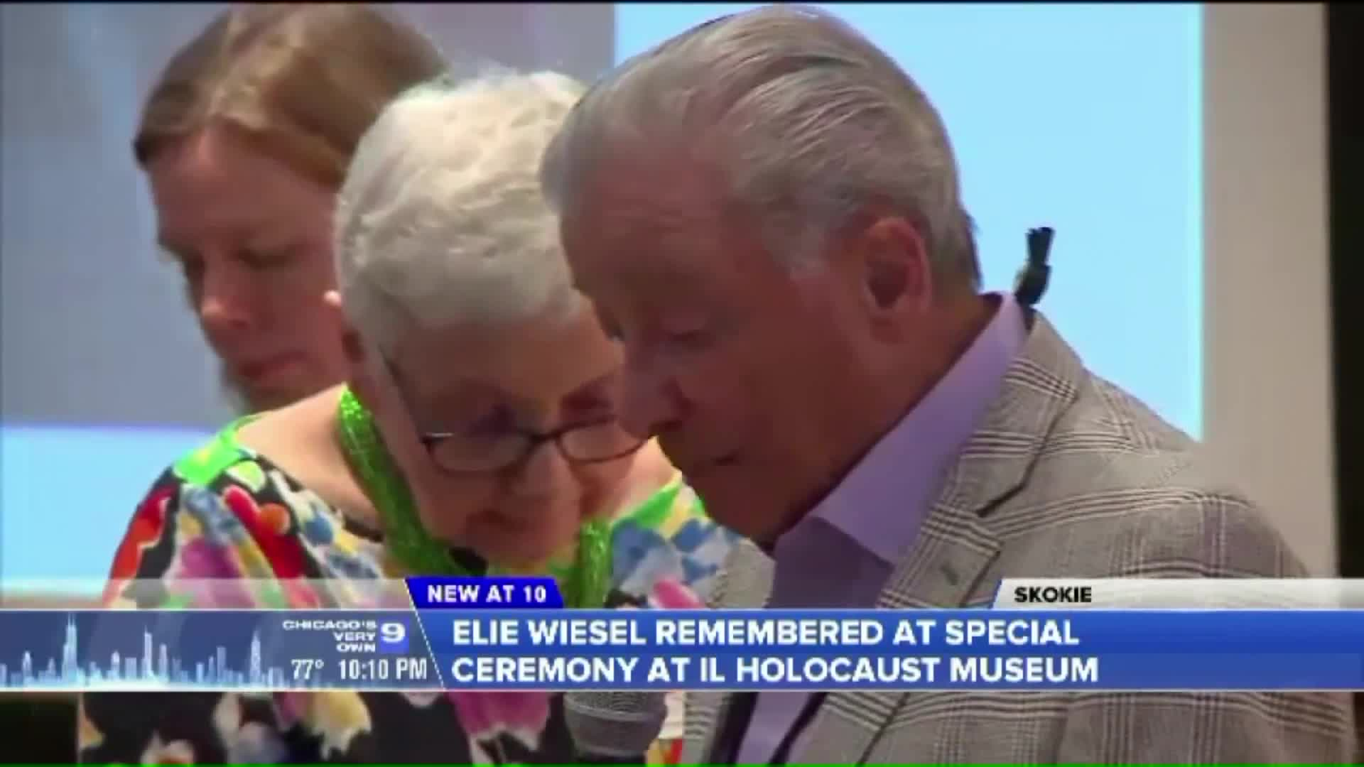 Elie Wiesel Remembered at Holocaust Museum Ceremony