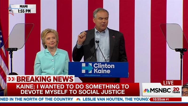 Kaine: 'Hillary and I will not rest' until gun reform achieved
