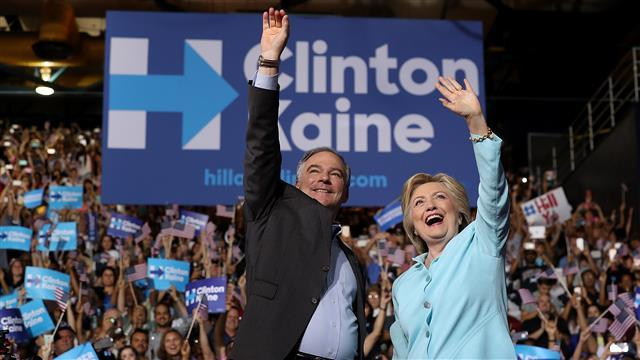 Clinton: Kaine Is Everything Trump and Pence Are Not