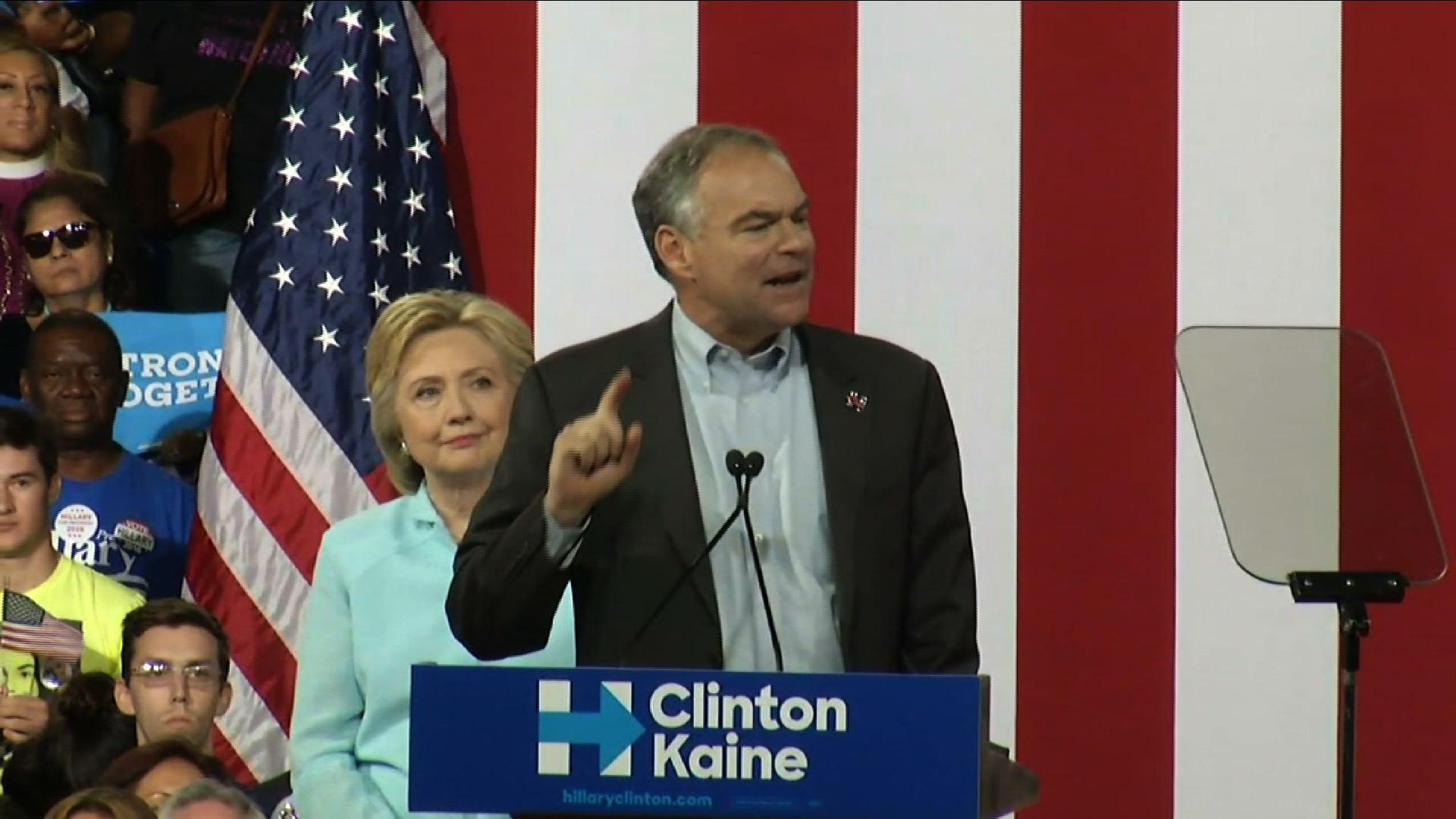 Kaine: Clinton is 'Opposite of Trump'