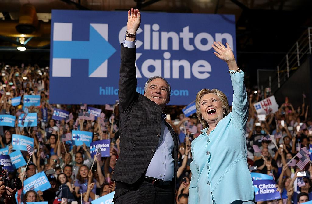 Tim Kaine took the stage alongside Hillary Clinton for the first time in Miami