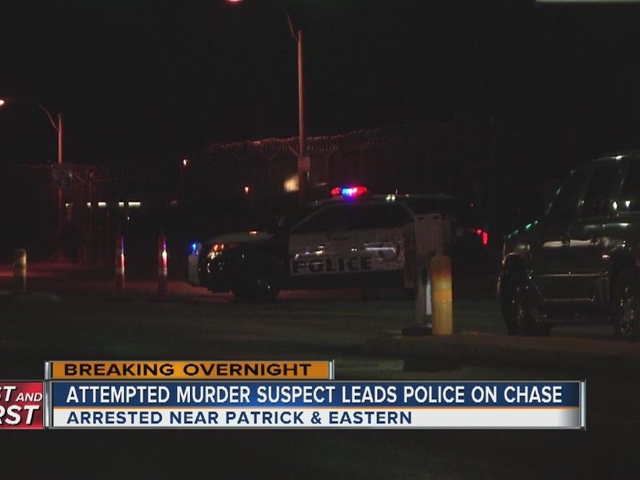 Attempted murder suspect arrested after pursuit