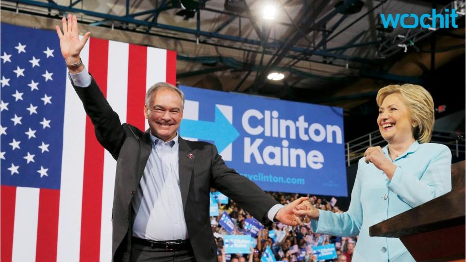 Tim Kaine Introduced As Clinton's Running Mate