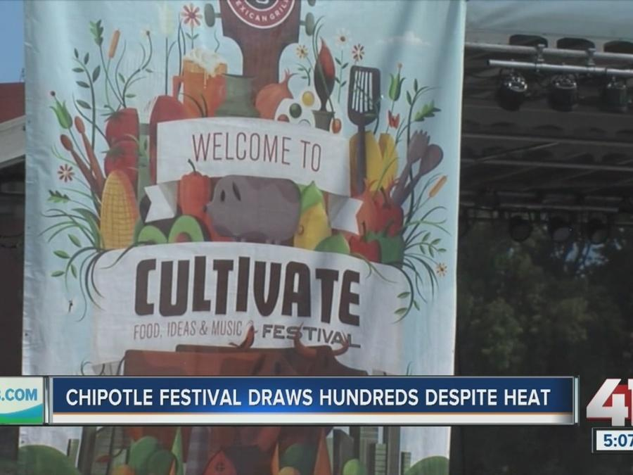 Chipotle festival draws hundreds despite heat