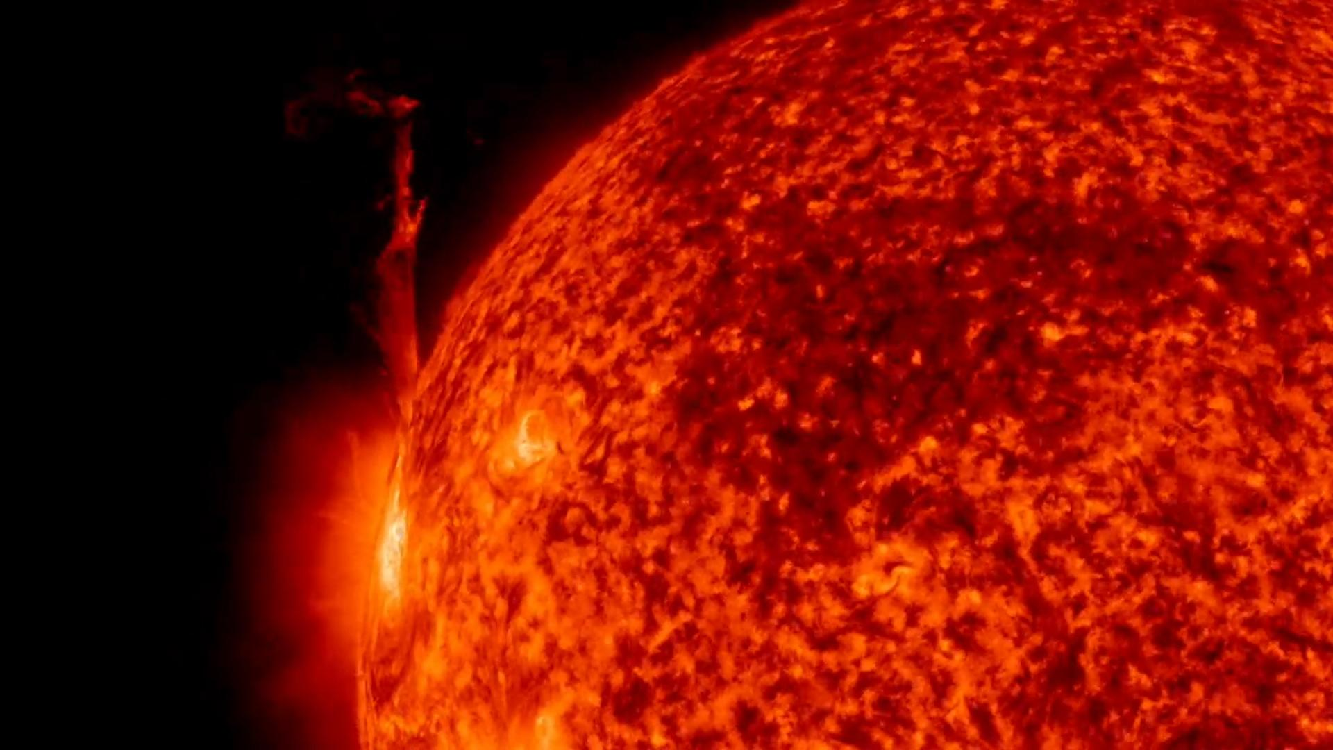 Watch in Awe as the Sun Shoots Out Molten Plasma
