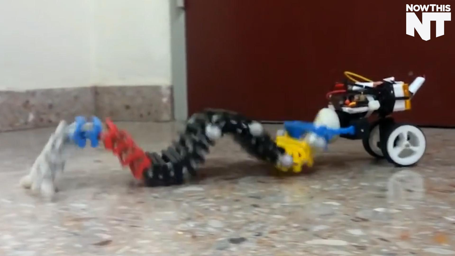 This Robot Does The Worm To Get Around