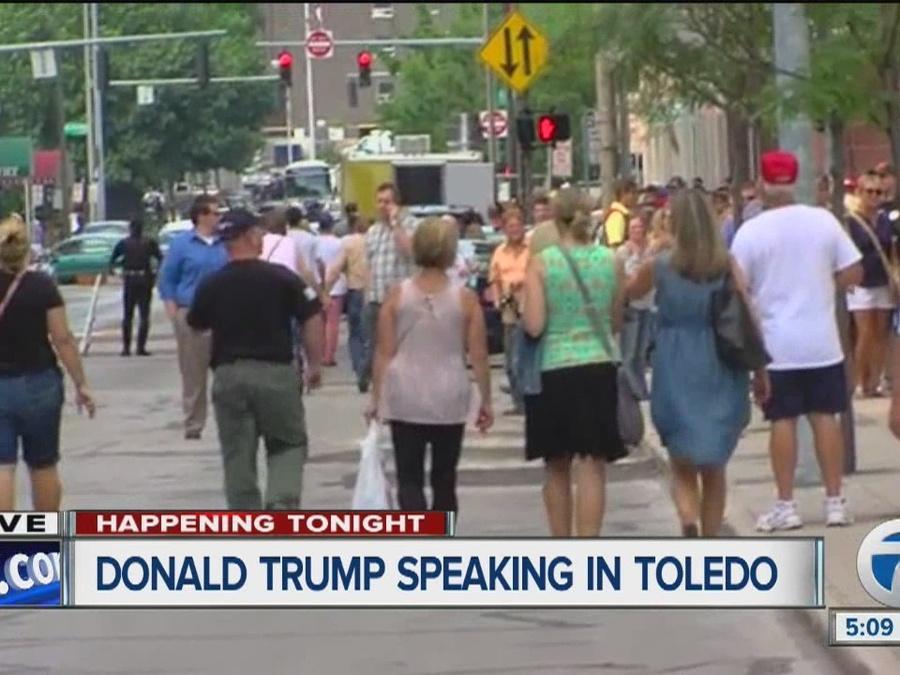 Donald Trump to speak in Toledo