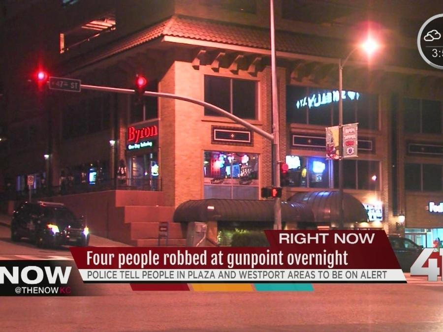 Four overnight robberies in Plaza, Midtown area