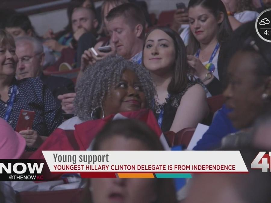 Youngest Clinton delegate from KC metro attends DNC