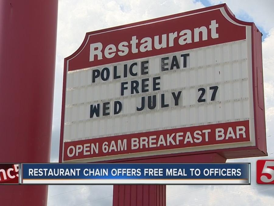 Shoney's Offers Free Meal To Law Enforcement