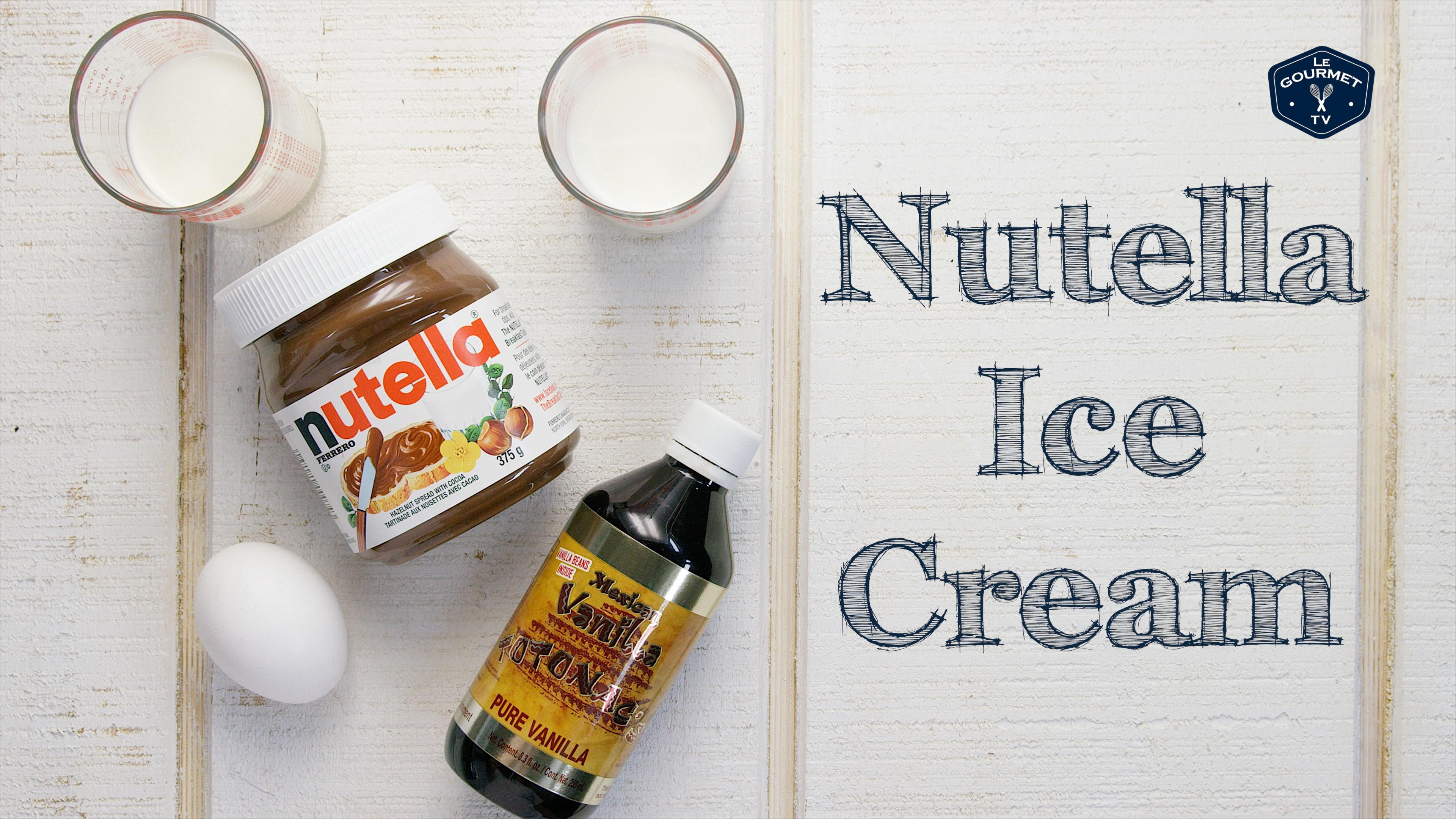 How to Make Nutella Ice Cream