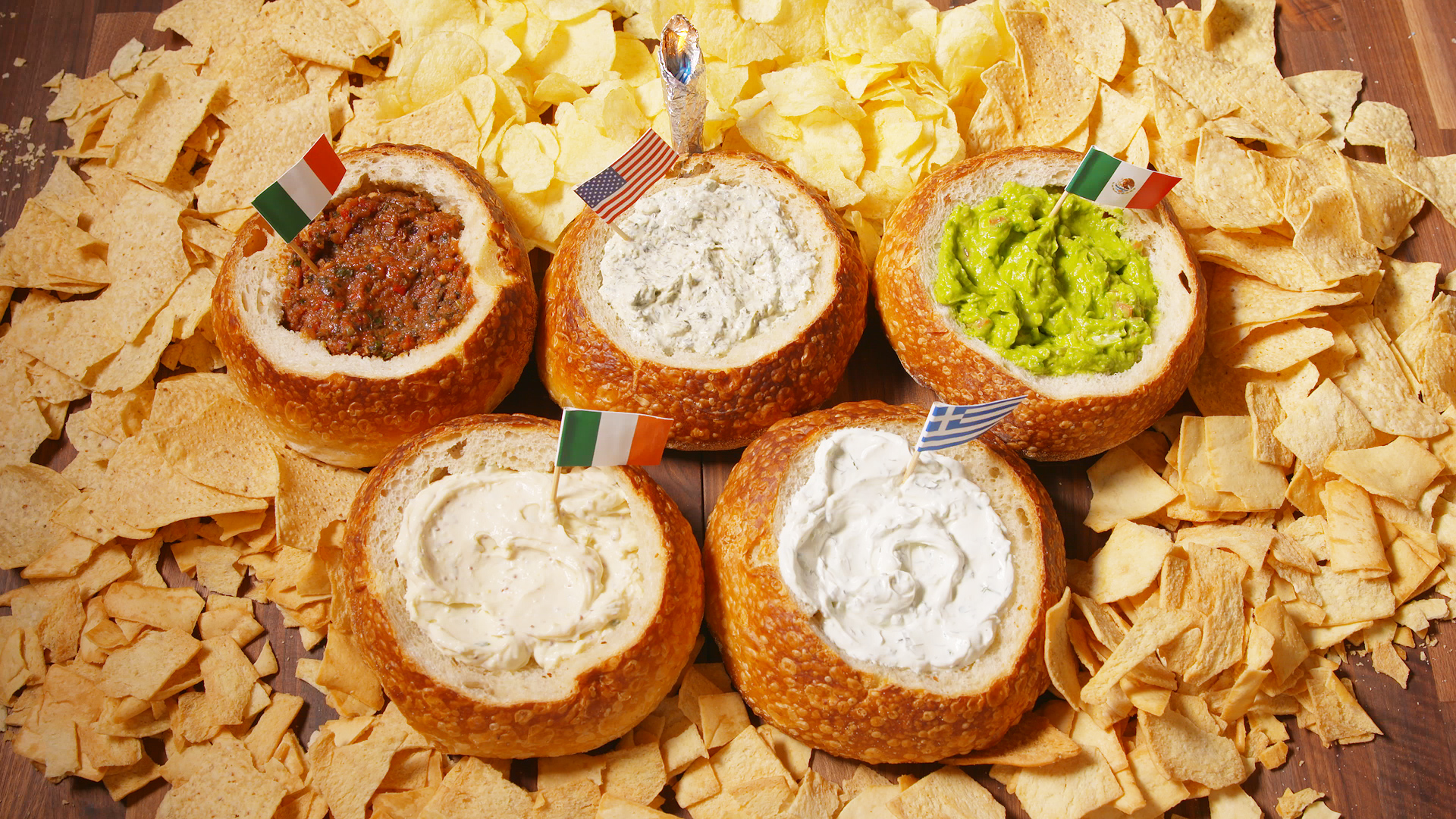 Olympic Bread Bowl Dips