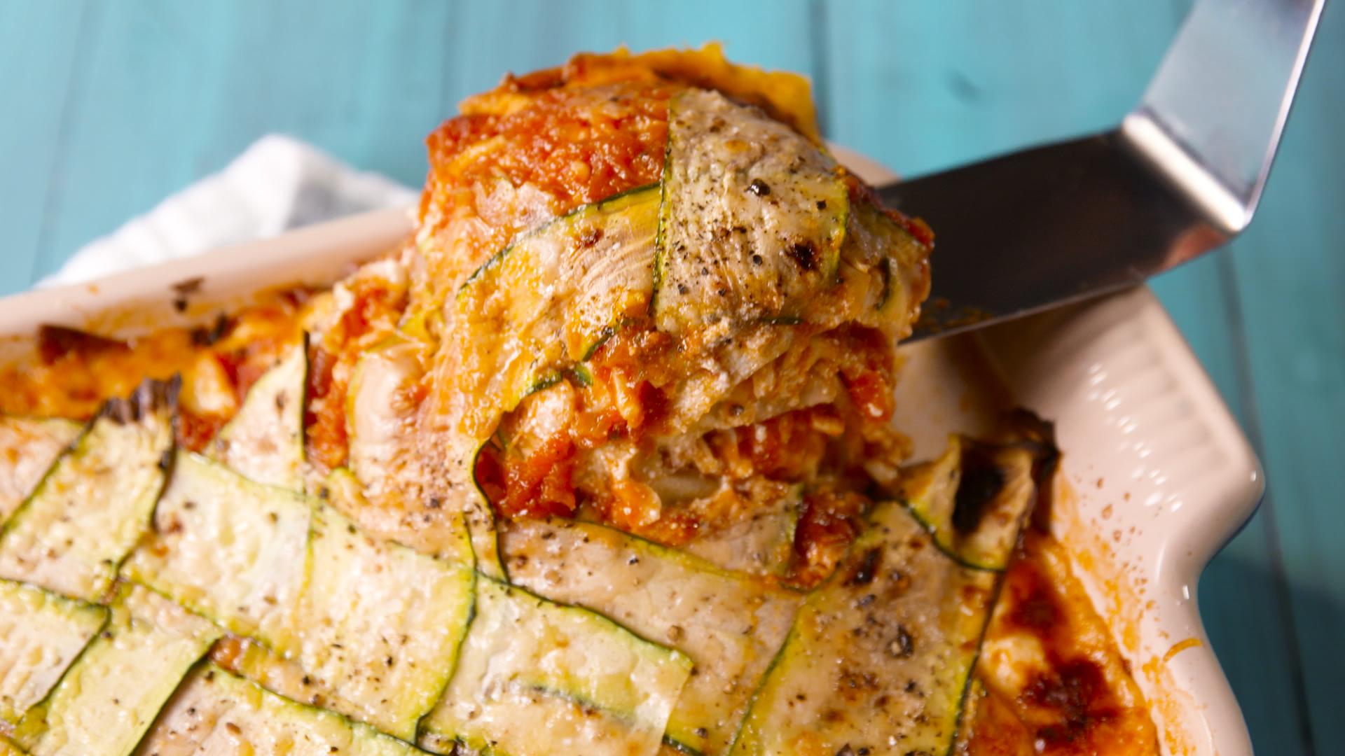 Zucchini Lattice Lasagna Recipe