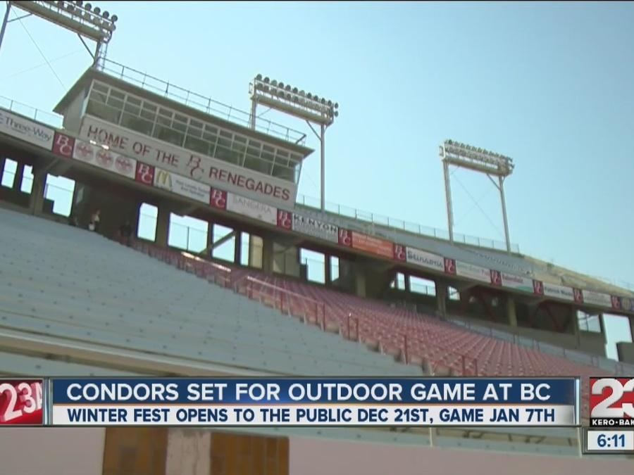 Condors announce outdoor game to be played at Bakersfield College