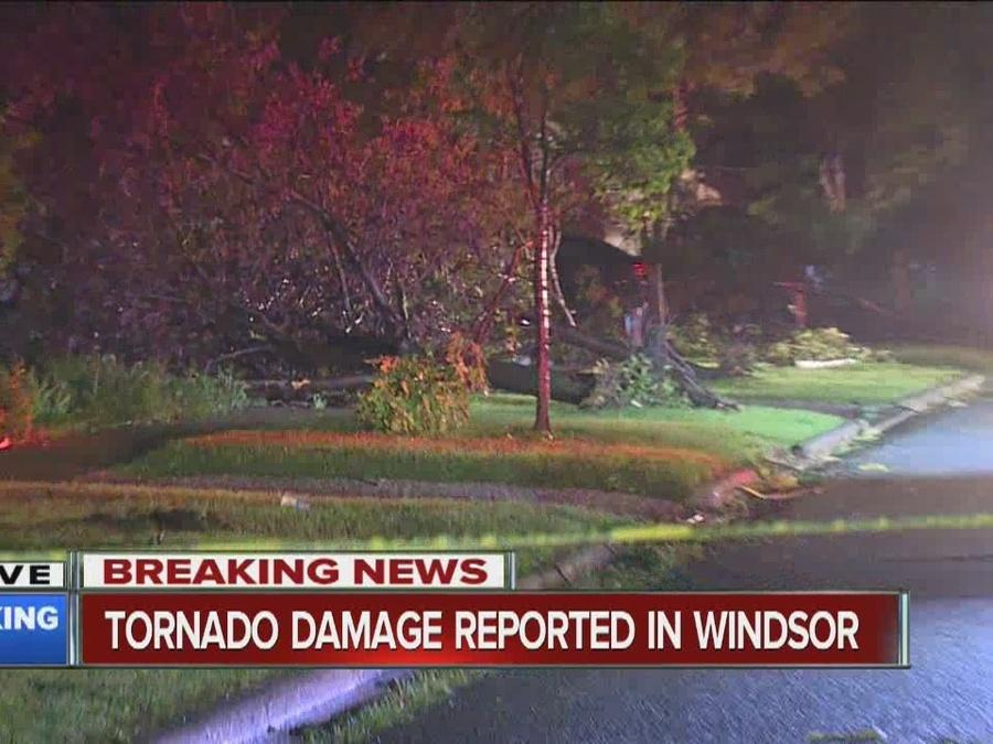 Damage in Windsor after tornado touchdown