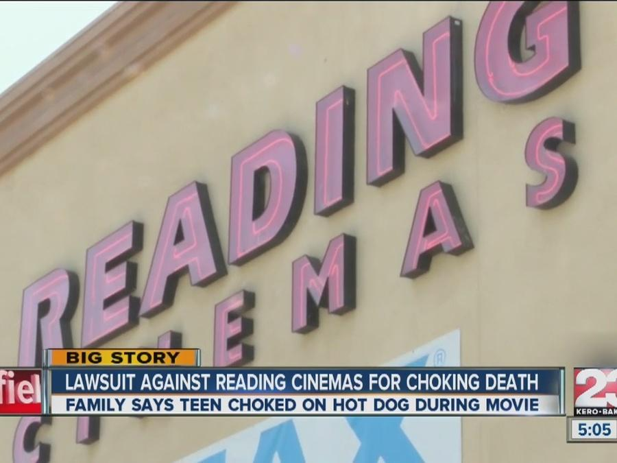 Lawsuit against Reading Cinemas for choking death