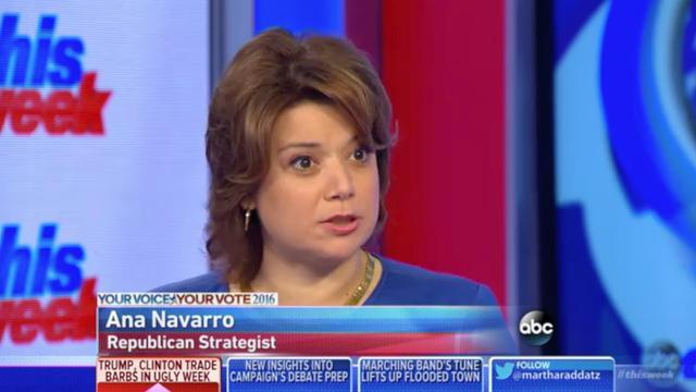 "Republican Commentator Ana Navarro Calls Trump ""Unfit To Be Human"""