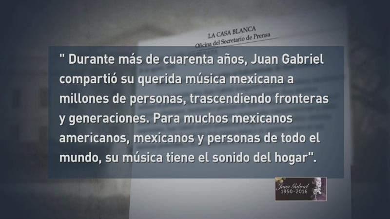 Obama reconoce la grandeza de Juan Gabriel