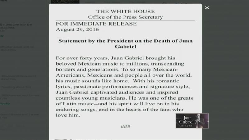 Obama dedica sentidas palabras a Juan Gabriel