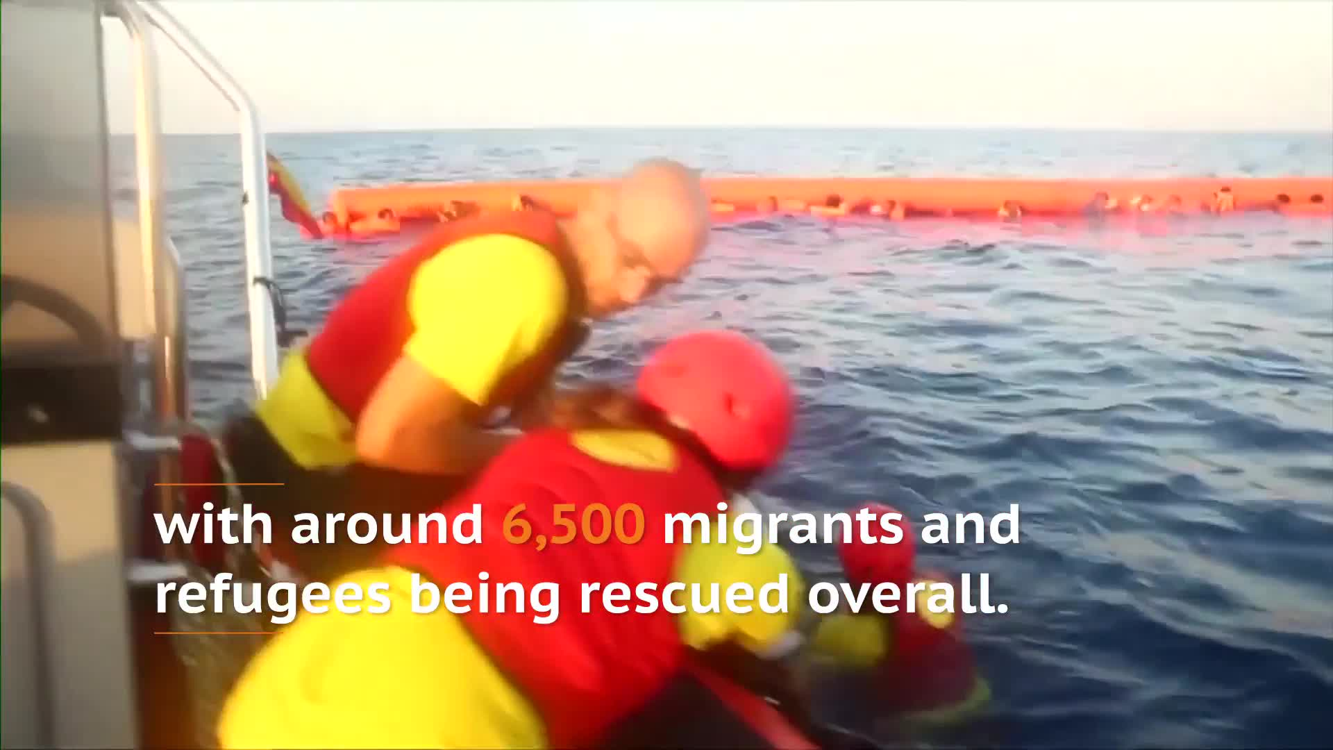 Hundreds Of Migrants Rescued Off The Coast Of Libya