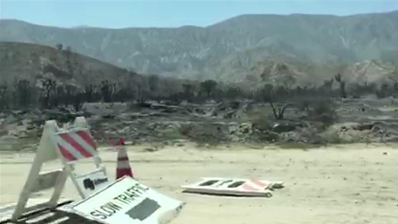 'Blue Cut' Fire Leaves Charred Landscape in California