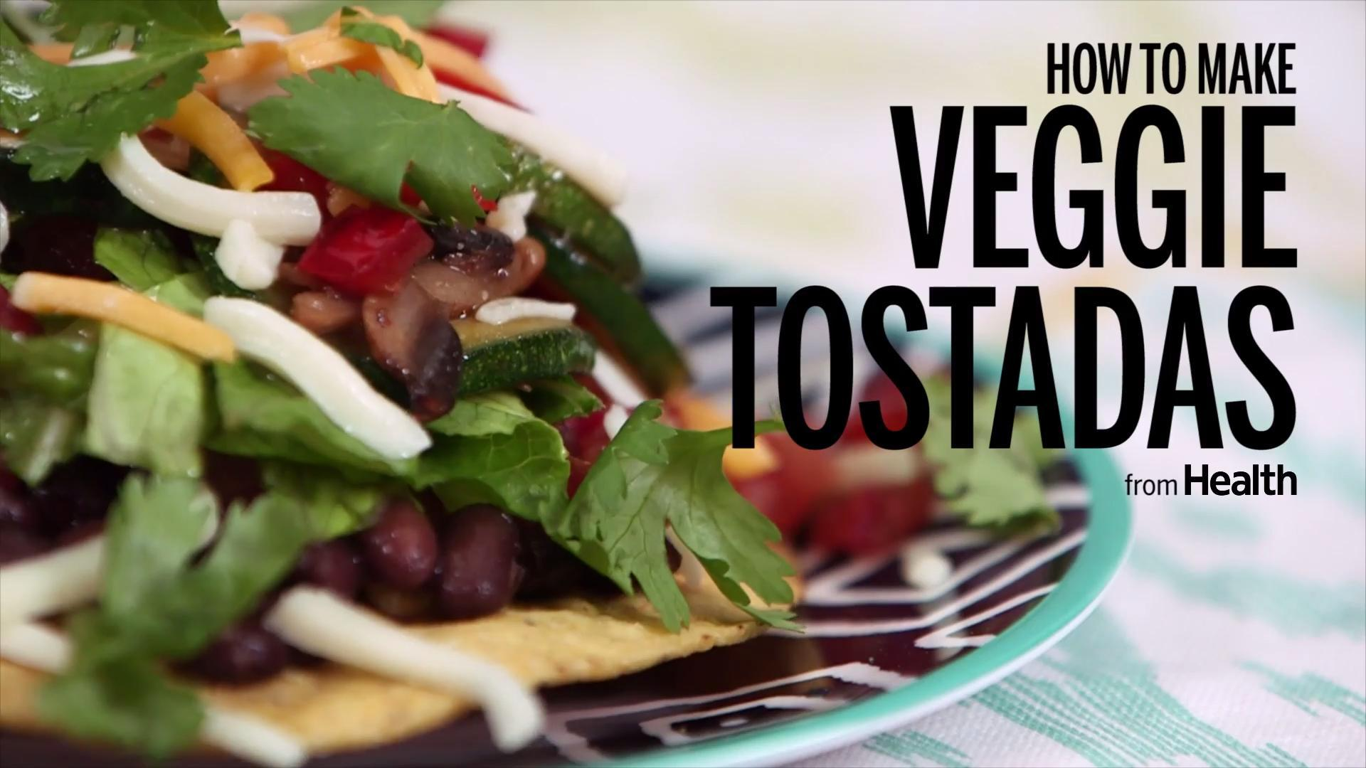 How to Make Simple Veggie Tostadas