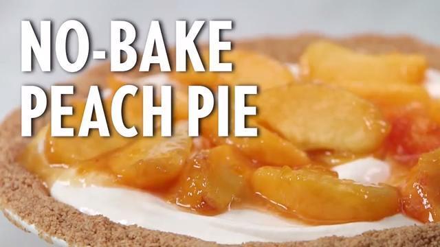 How to Make No-Bake Peach Pie