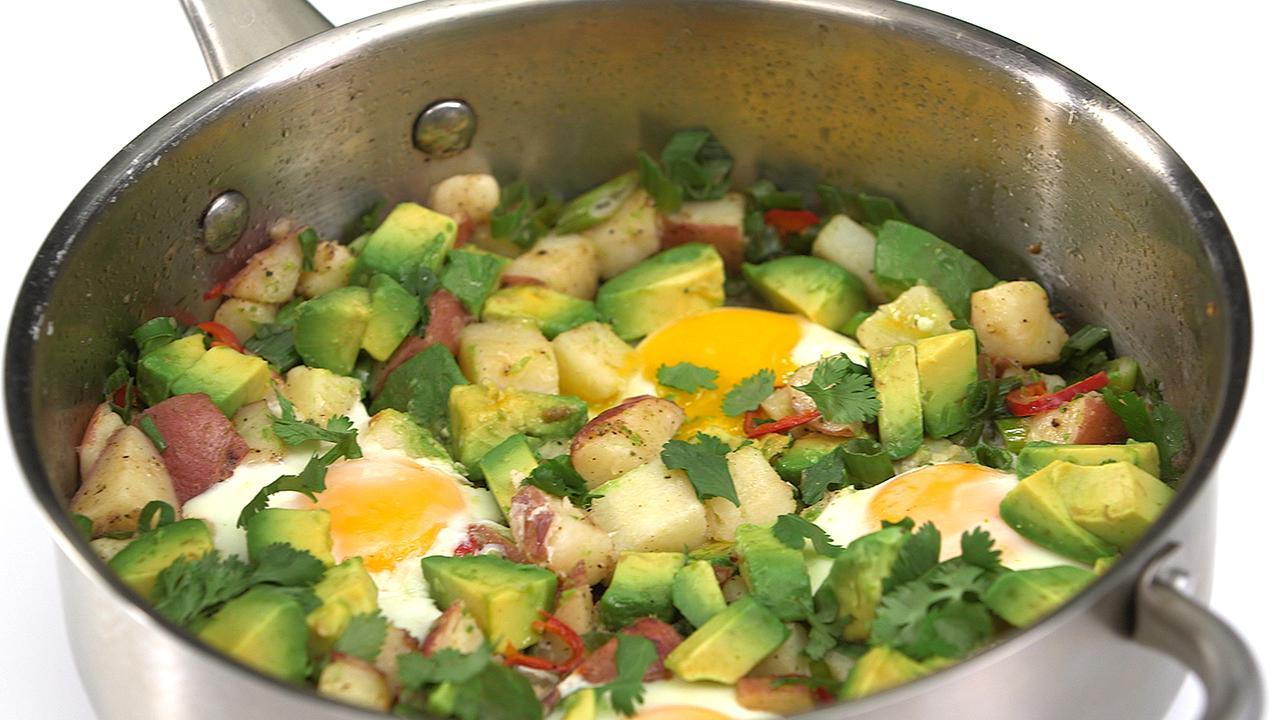 Potato, Egg, and Avocado Hash Recipe