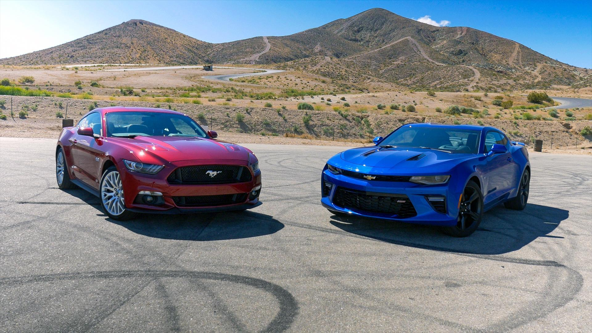 Ford mustang vs chevy camaro autoblogs pony car shootout autoblog