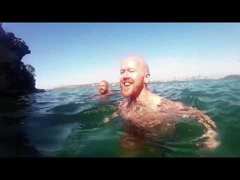 Friends Swim, Dive, and Kayak in Sydney Harbour