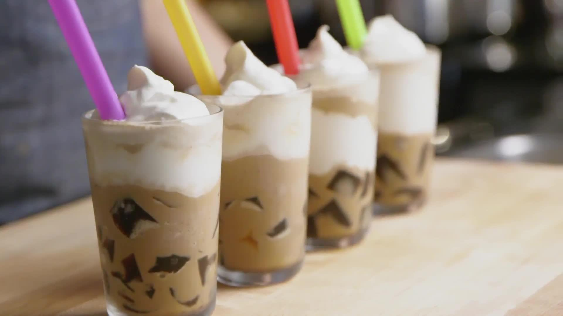 Make Starbucks-Style Frozen Coffee Jelly at Home