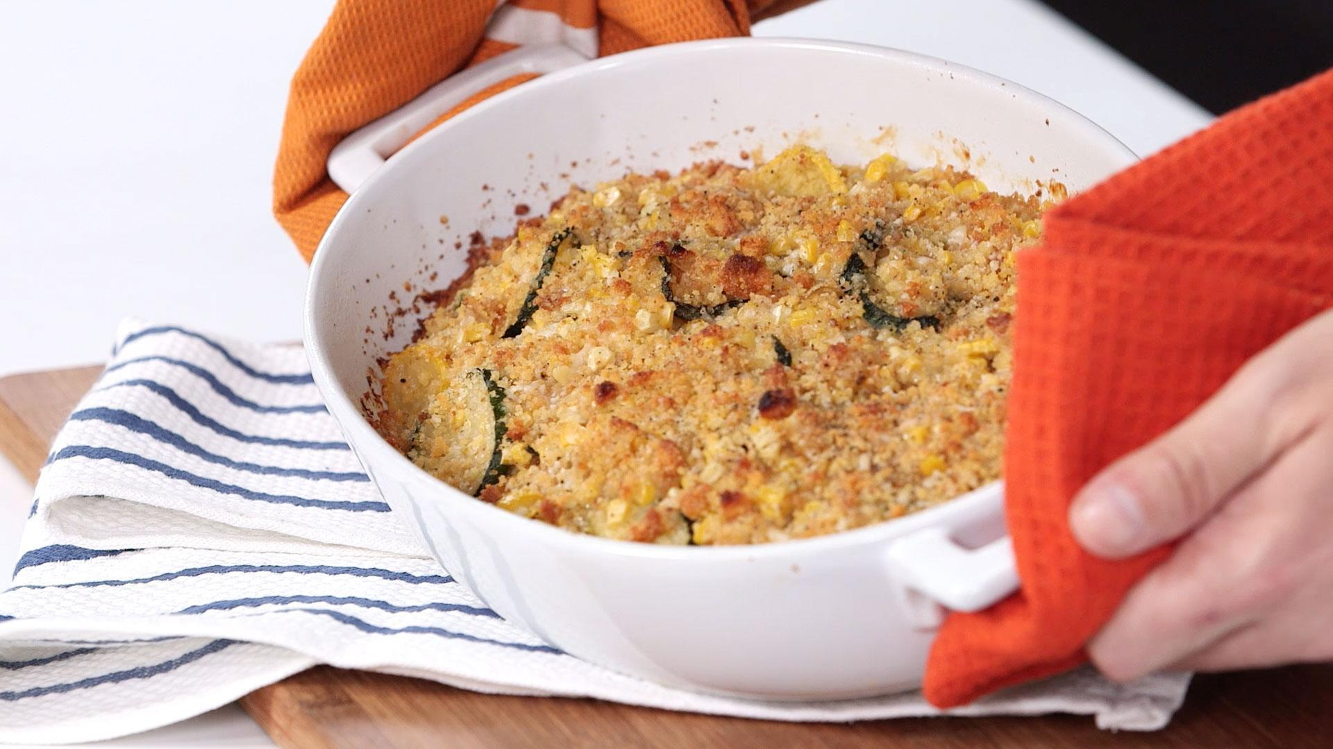 How to Make a Squash and Kernel Corn Casserole with Cornbread