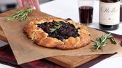 Cherry Berry Crostata with Pinot and Rosemary
