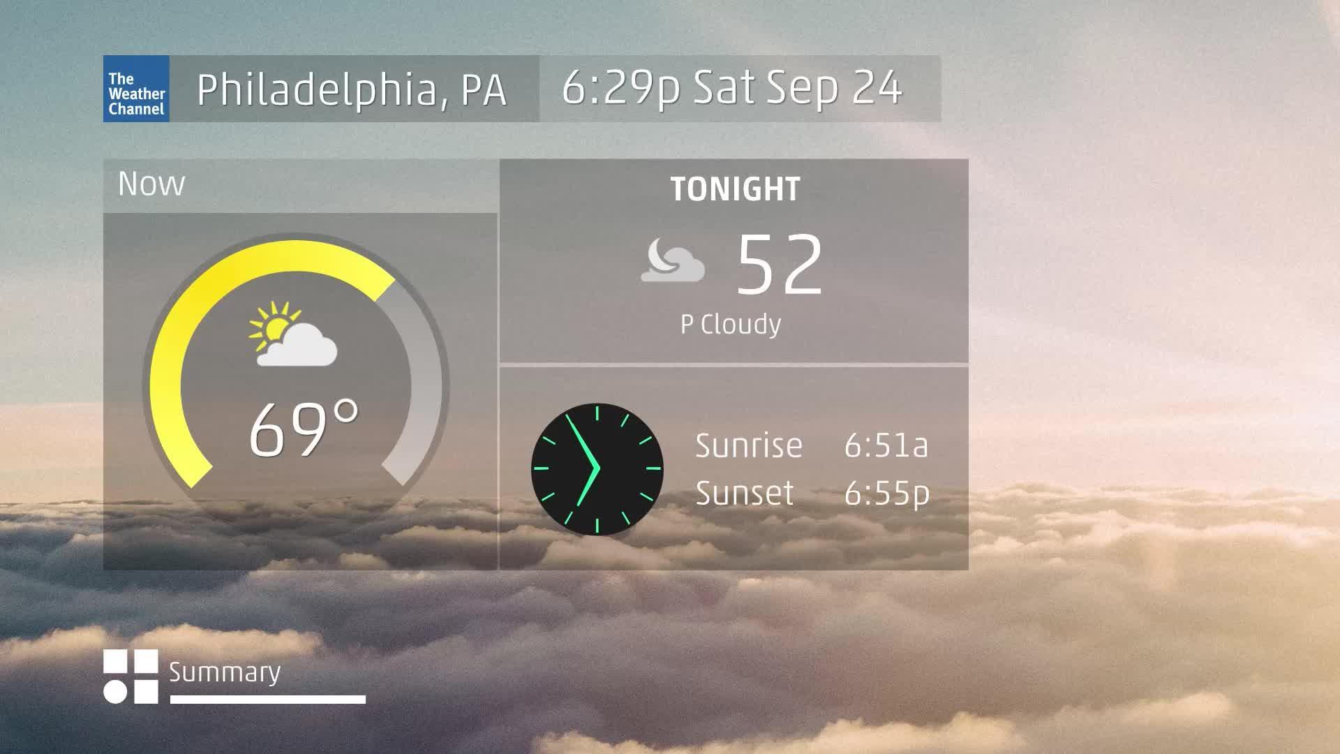 Philadelphia, PA 60 Second Forecast