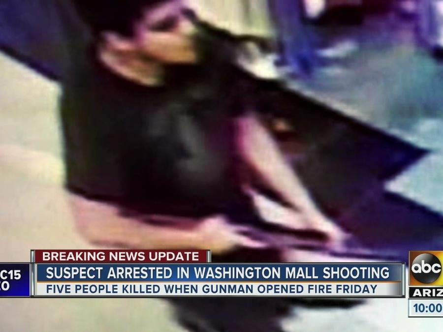 Police ID suspect in Washington mall shooting