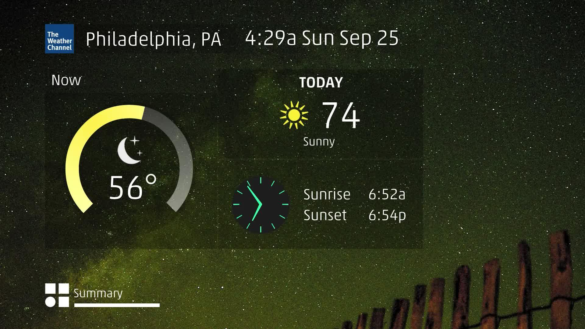 Philadelphia, PA 60 Second Forecast