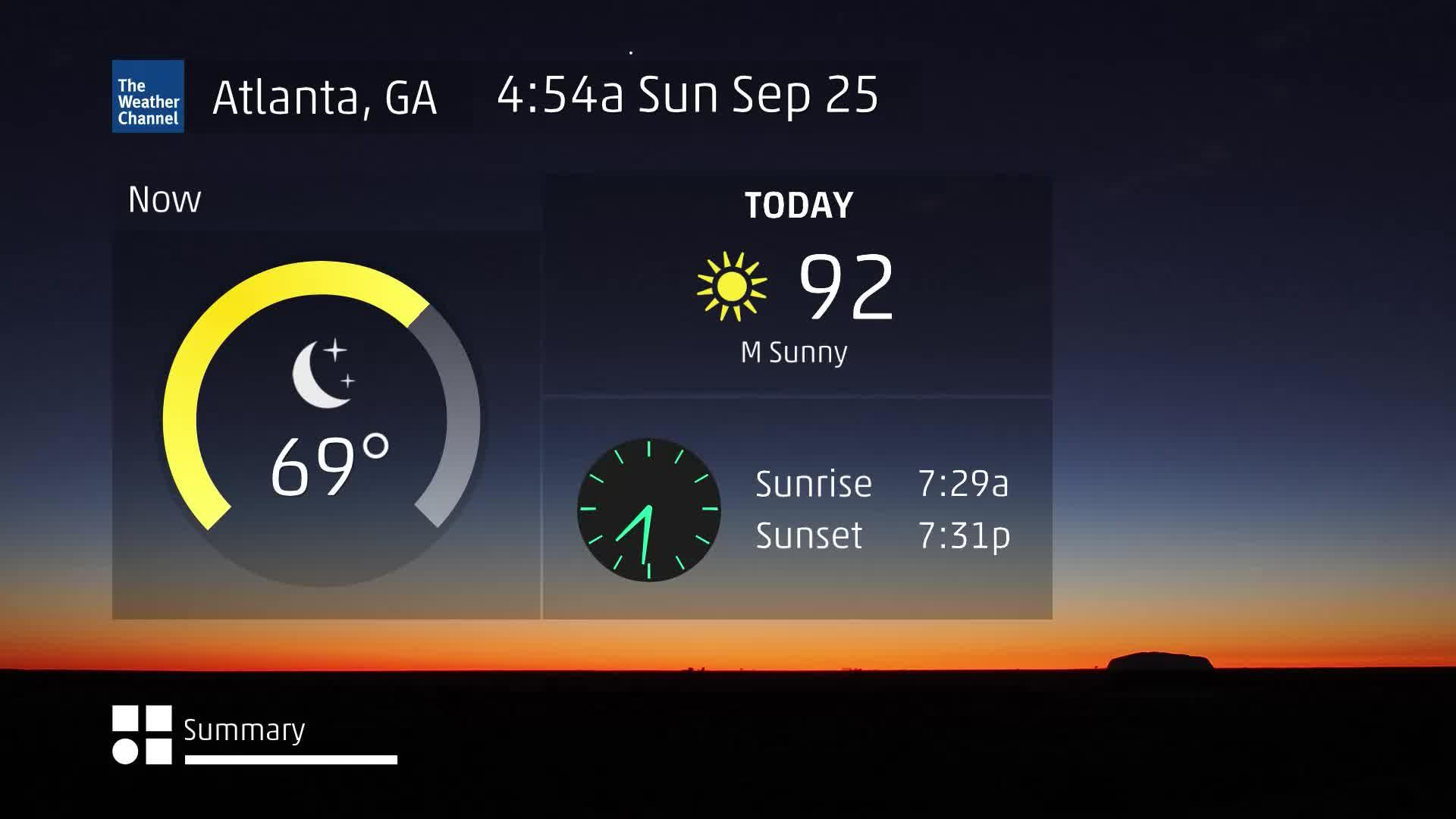 Atlanta, GA 60 Second Forecast