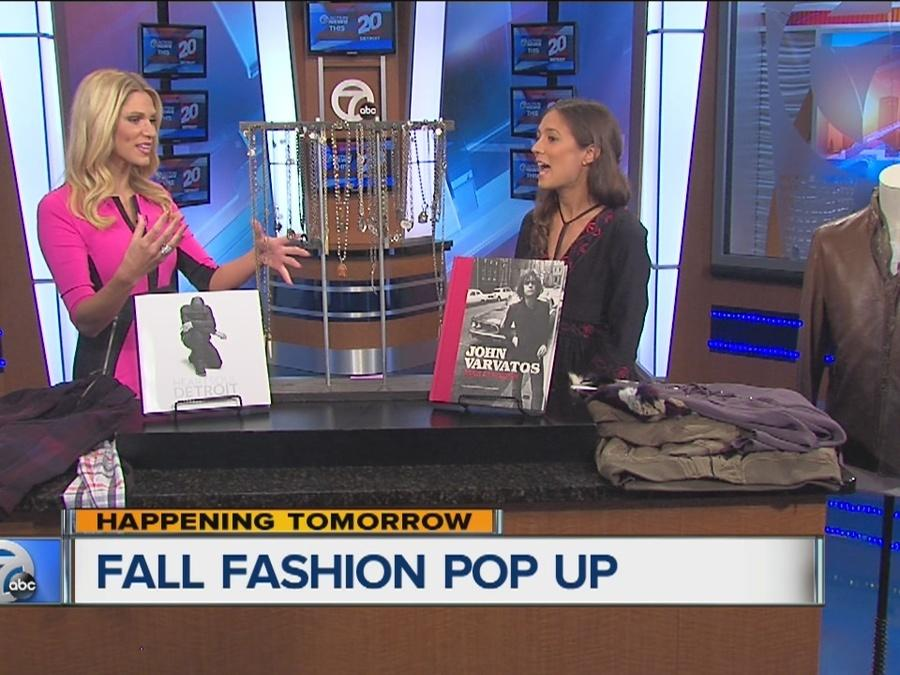 Fall fashion pop up shop in Downtown Birmingham