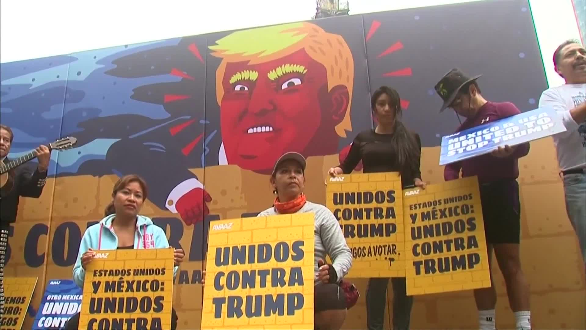 Anti-Trump campaign hits Mexico City