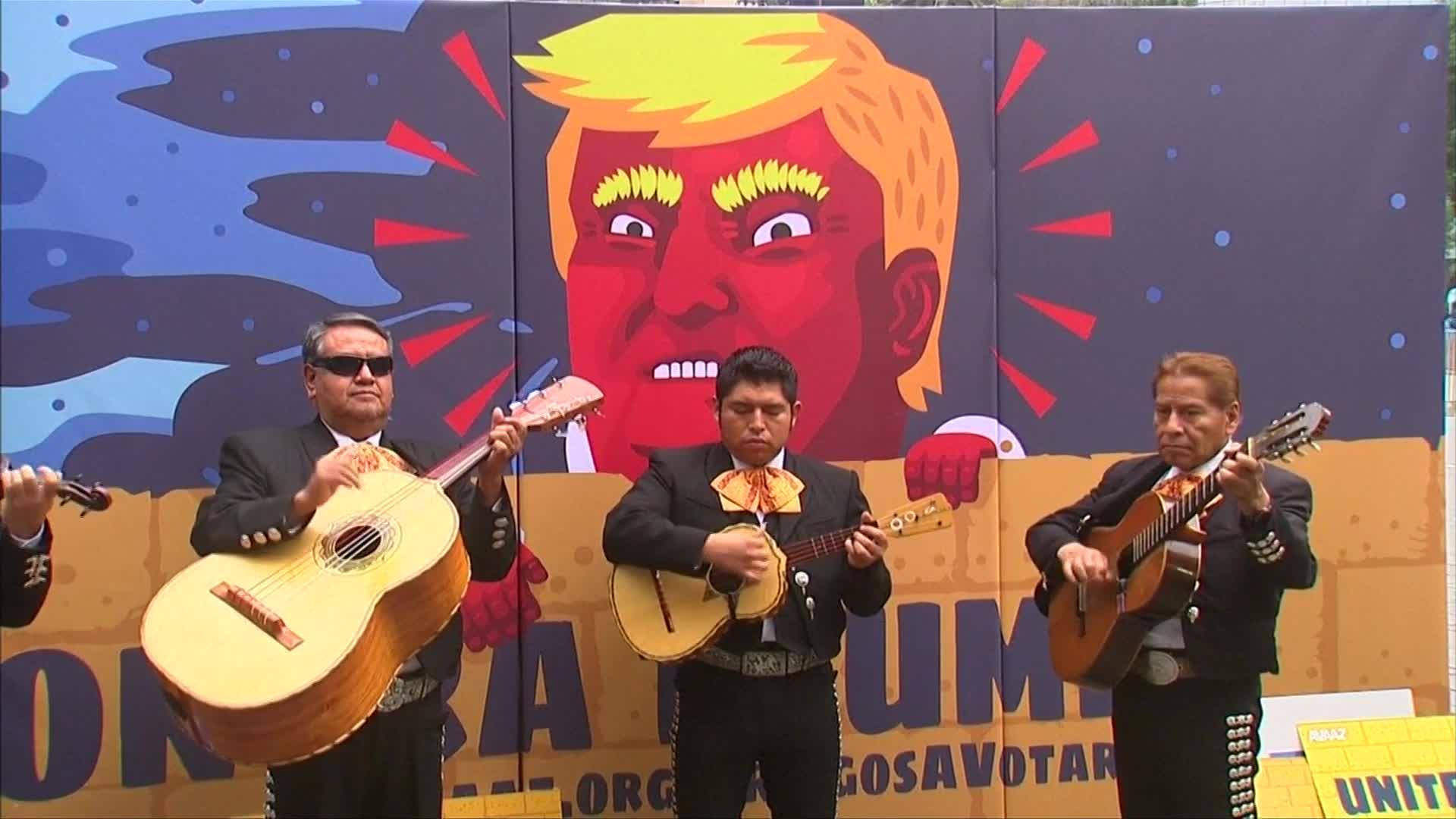 Anti-Trump campaign hits Mexico City