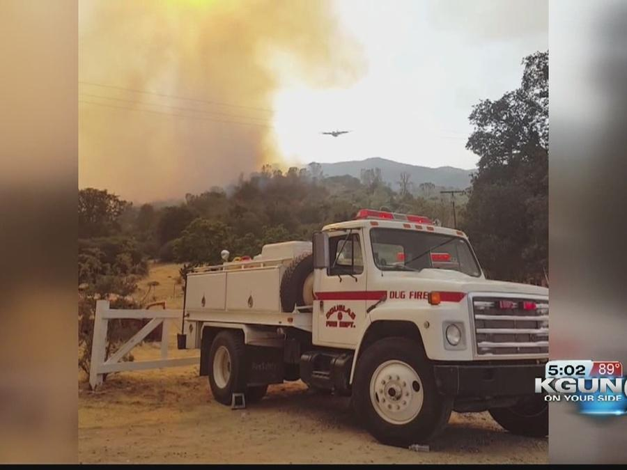 Douglas fire crews return home from CA wildfire deployment