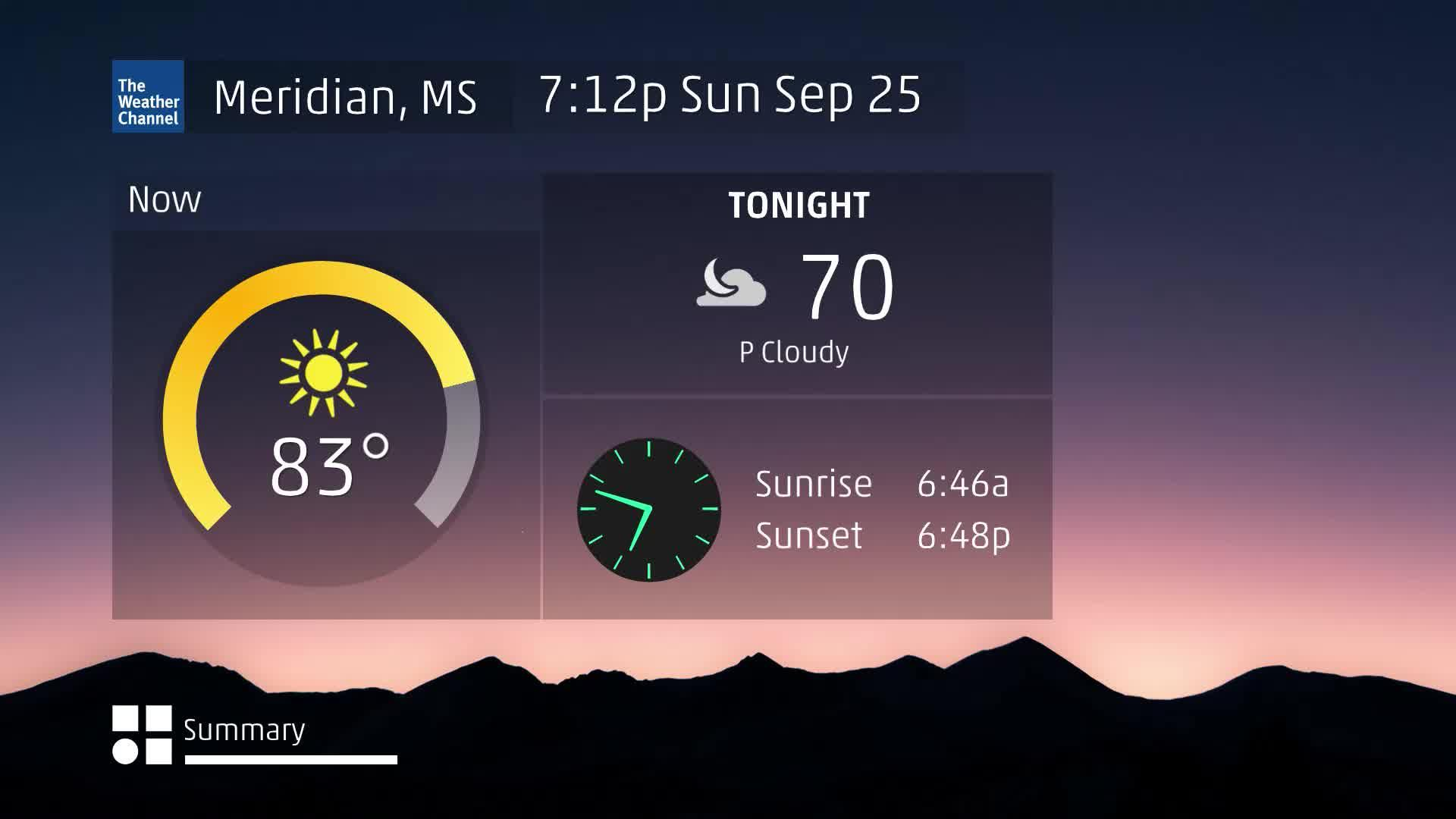 Meridian, MS 60 Second Forecast