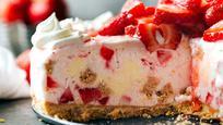How to Make Strawberry Cheesecake Ice Cream Pie