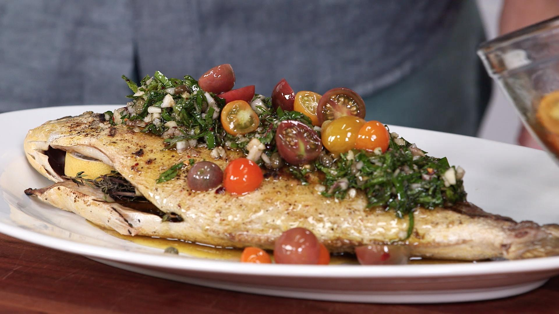 Grilled Pompano with Salsa Verde