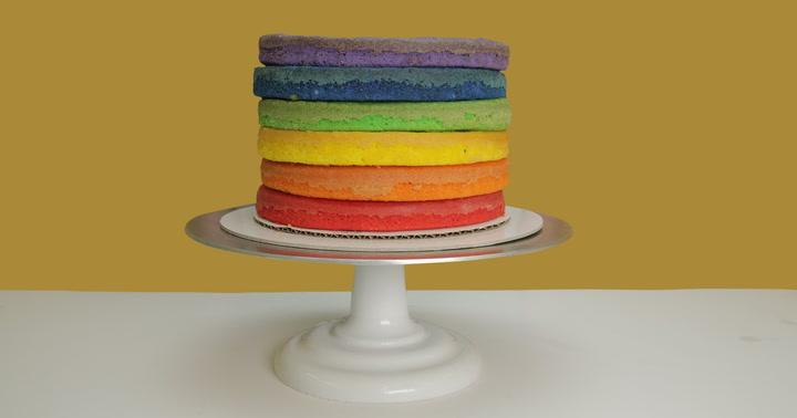Truly Perfect Rainbow Cake