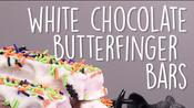 How to Make White Chocolate 'Butterfinger' Bars