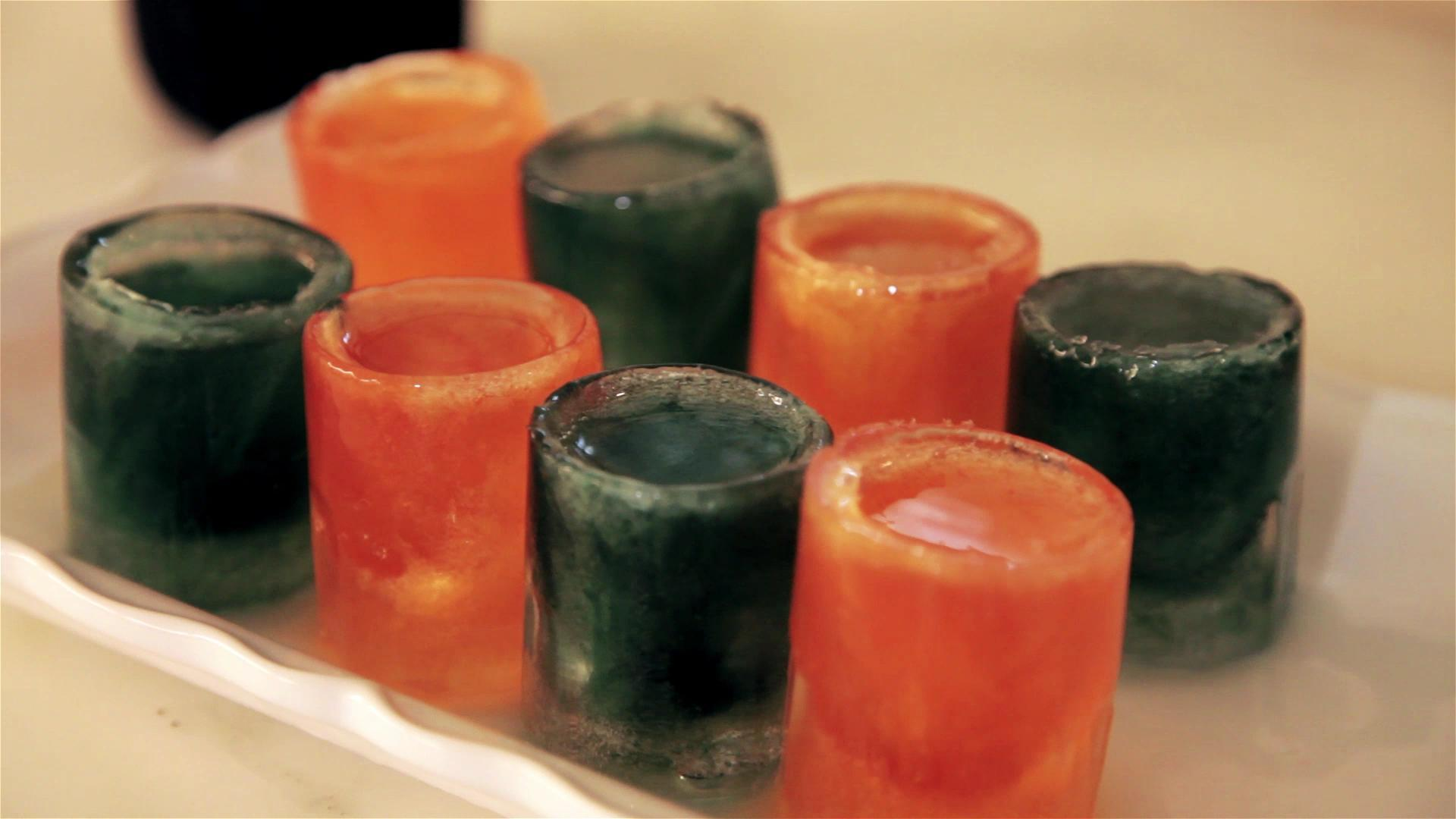 How to Make Haunted Halloween Ice Shots