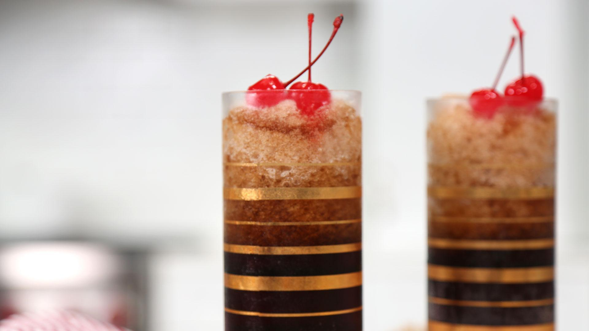 Cherry Bourbon Coca-Cola Slushies