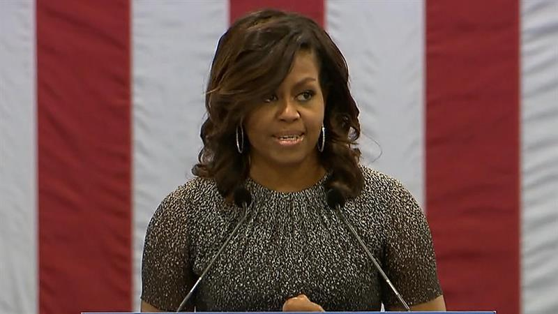 See Highlights of Michelle Obama's Speech Against Trump