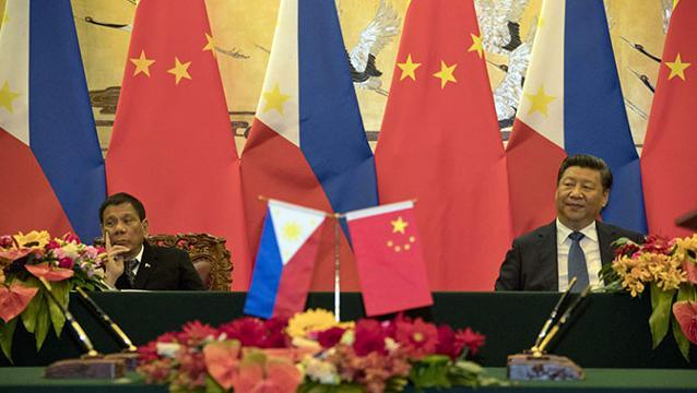 Duterte plays US against China